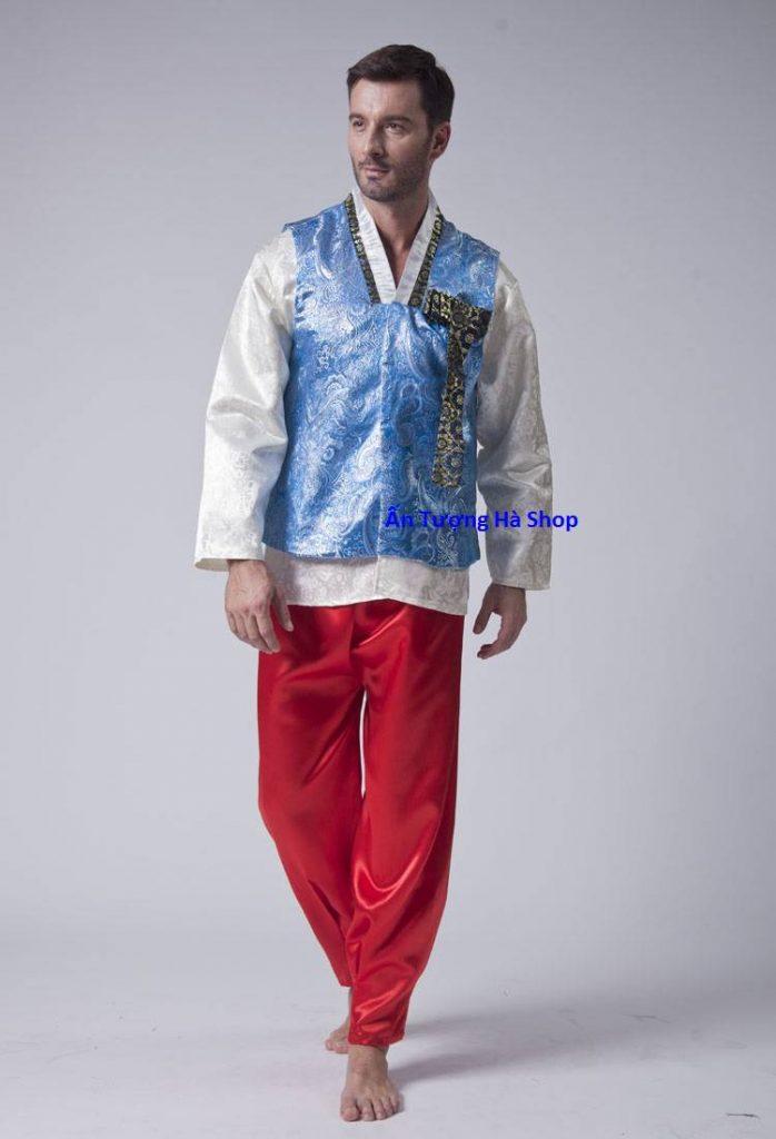 Mách bạn địa chỉ cho thuê Hanbok nam màu xanh giá rẻ