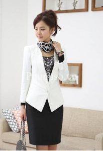 Cho thuê áo Vest Nữ trắng đẹp sang trọng chỉ có tại Ấn Tượng Hà Shop