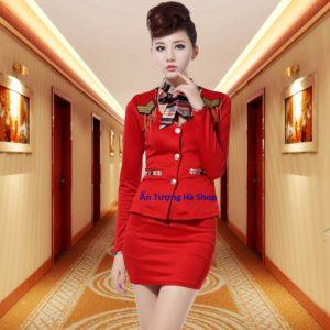 Bán và cho thuê áo vest Nữ đỏ biểu diễn chỉ có tại Ấn Tượng Hà Shop