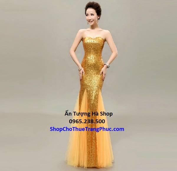 Đầm dạ hội kim sa đuôi cá